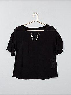 Chemise, blouse - Blouse en viscose forme basque - Kiabi