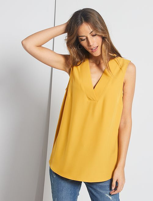 Blouse encolure en V                                                                             jaune