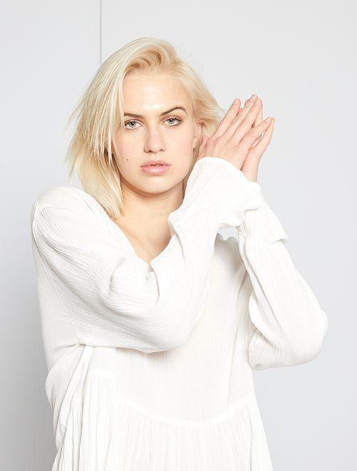 Blouse esprit bohème 'Jacqueline De Yong'                             blanc