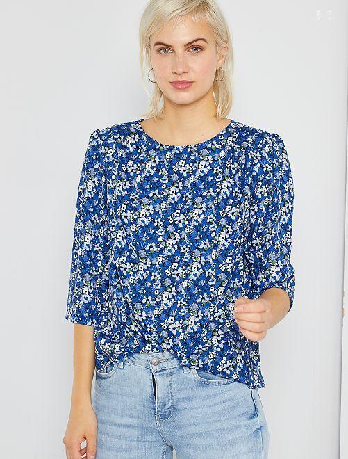 Blouse fleurie                             bleu