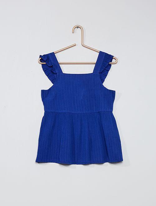 Blouse fluide                                                                 bleu