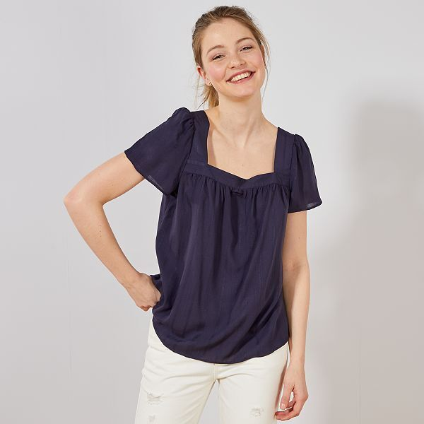 great fit new products retail prices Blouse fluide en viscose