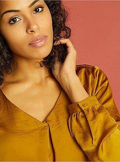 Top, blouse taille m - Blouse fluide satinée