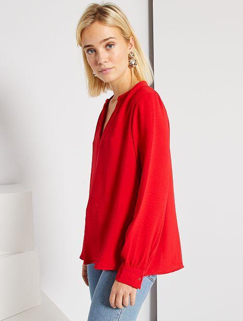 Blouse large                                                                             rouge