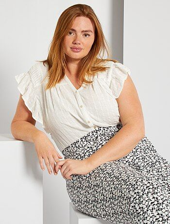 794 grande taille NEUF collection chemisier Femmes Chemise 3//4 Bras A MOTIF M
