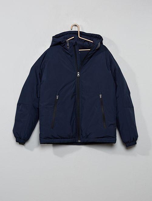 Blouson chaud à capuche                                         bleu marine