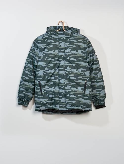 Blouson de ski                                         camouflage Garçon adolescent