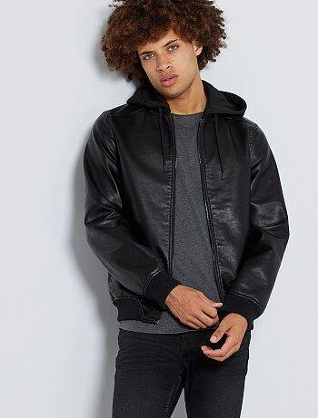 23c088d5e8afe Blouson cuir, blouson homme - vêtements Homme | Kiabi