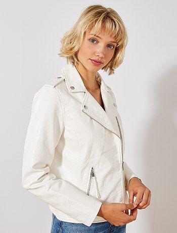6cf71d6aa175f Soldes blouson simili femme | veste fashion Femme | Kiabi
