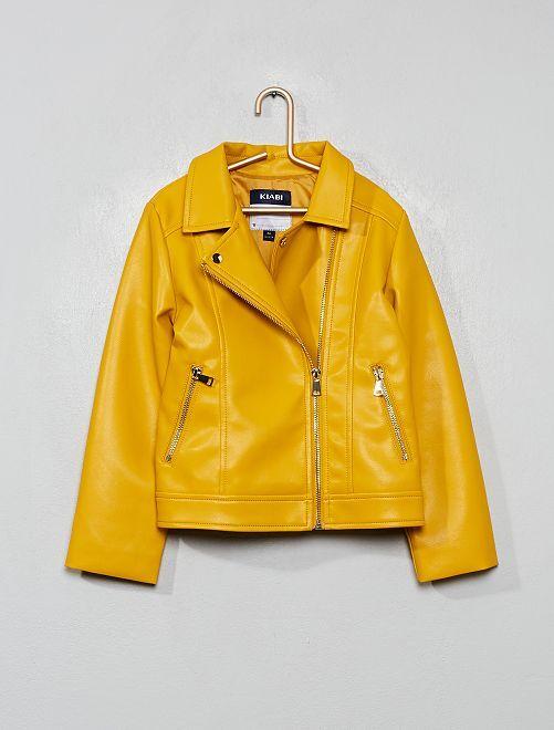 Blouson en simili                                                                             jaune