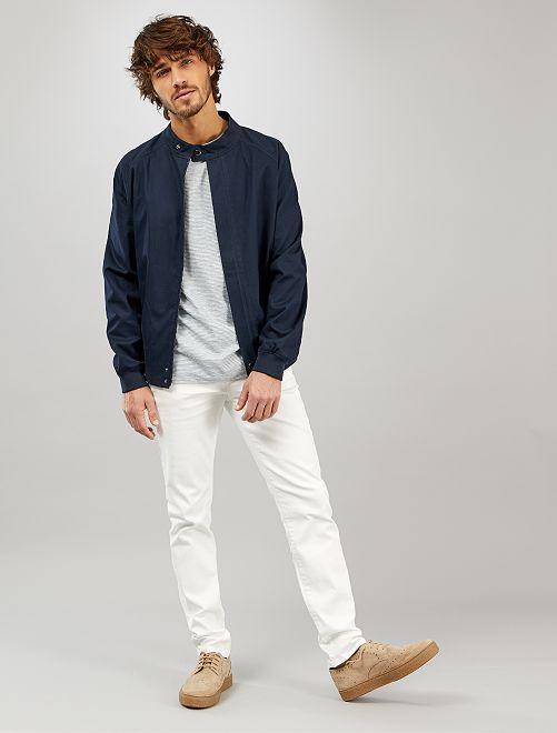 Blouson en twill de coton                             bleu marine