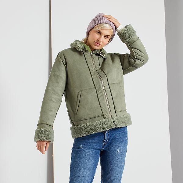 Blouson réversible Femme vert Kiabi 25,00€