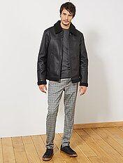 check-out 70bf5 fe070 Blouson cuir, blouson homme - vêtements Homme | Kiabi