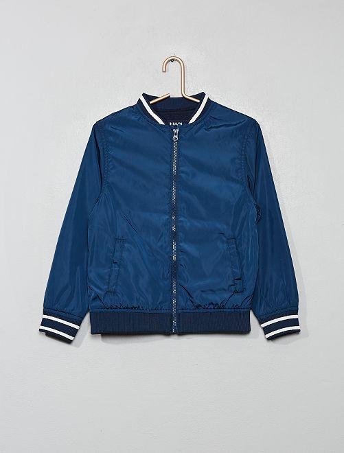Blouson style 'Teddy'                                         bleu marine