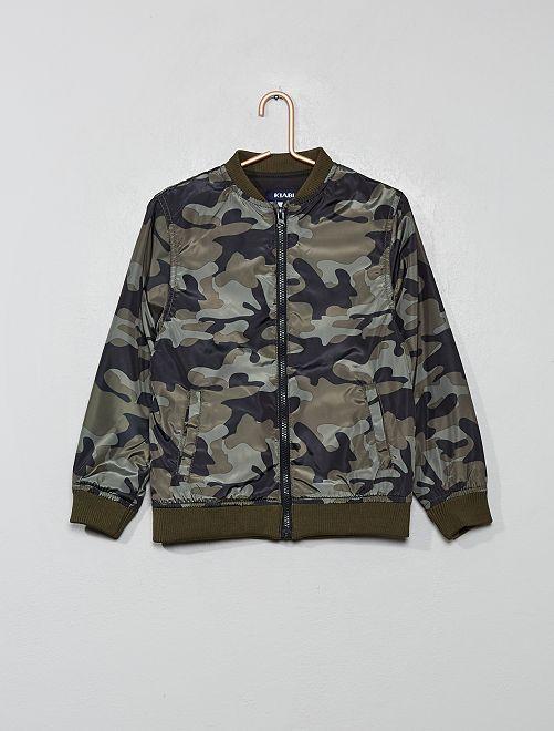 Blouson style 'Teddy'                                 kaki camouflage