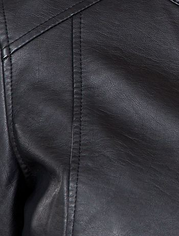 Blouson simili cuir femme chez kiabi