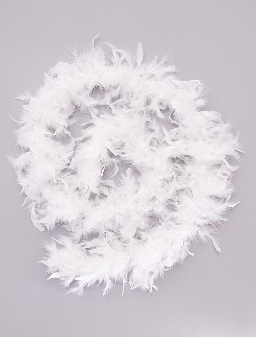 Boa à plumes                                                                             blanc