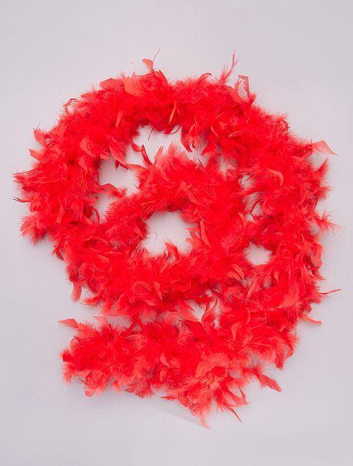 Boa à plumes                                                                             rouge