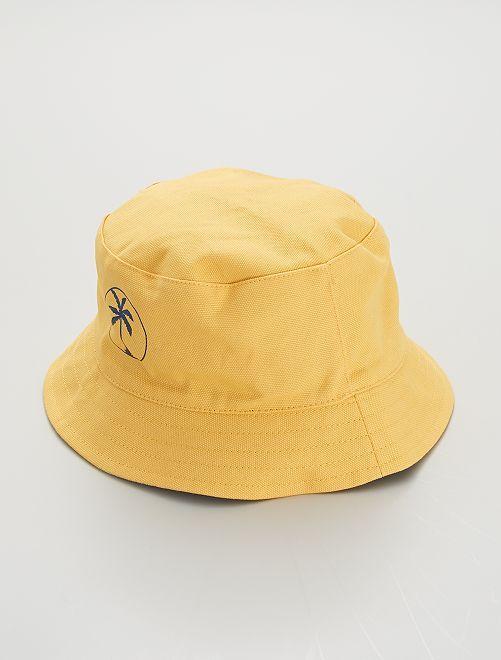 Bob réversible                             jaune crème