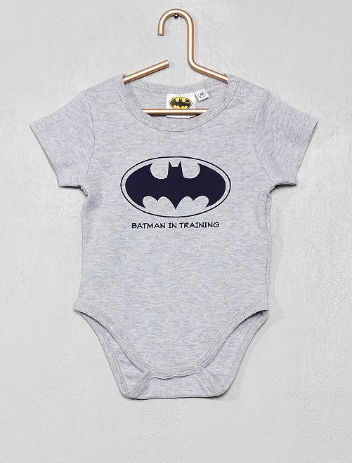 Body imprimé 'Batman'                                                     gris chiné