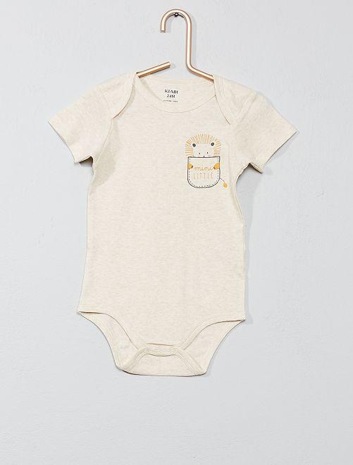 Body imprimé col US                                                                 beige Bébé garçon