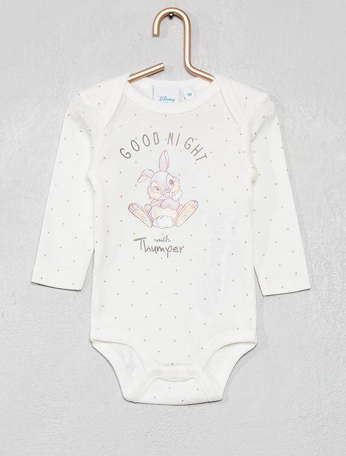 Body imprimé 'Disney baby'                                                                 blanc/panpan