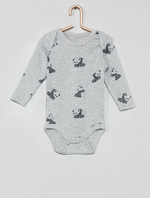 Body imprimé 'Eco-conception'                                                                 gris panda