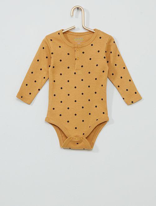 Body imprimé éco-conçu                                                                 jaune pois