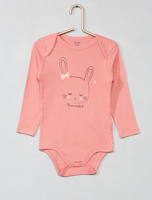 Body imprimé 'lapin'                                                                             rose lapin Bébé fille