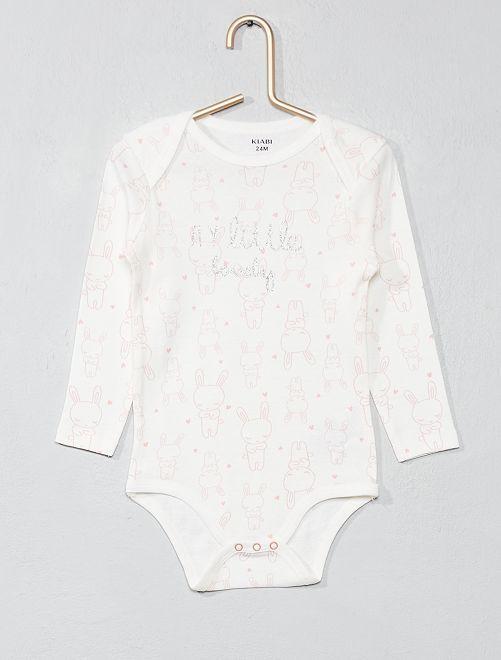 Body imprimé 'lapins'                                                                             blanc/rose Bébé fille