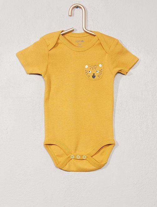Body manches courtes 'Lion'                                         jaune