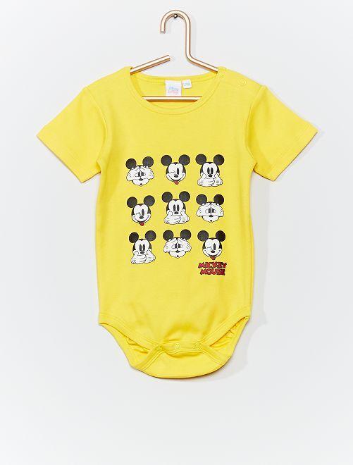 Body 'Mickey' manches courtes                             jaune