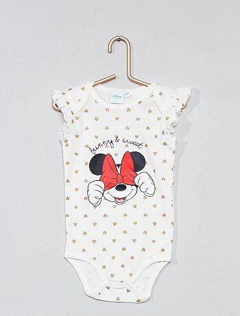 Fille 0-36 mois - Body 'Minnie' à volants - Kiabi