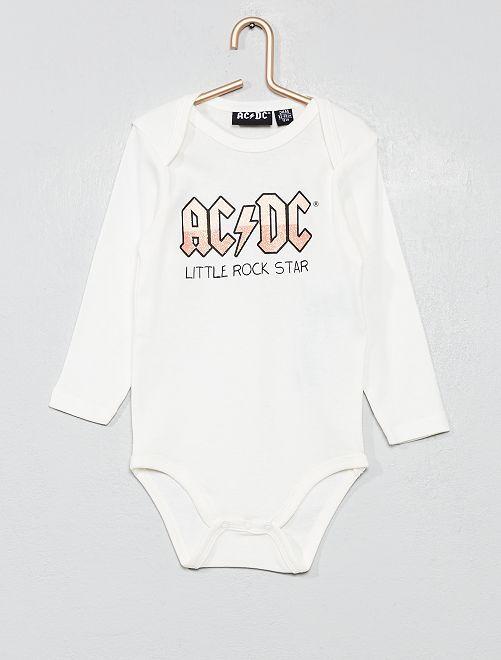 Body pur coton 'AC/DC'                             blanc
