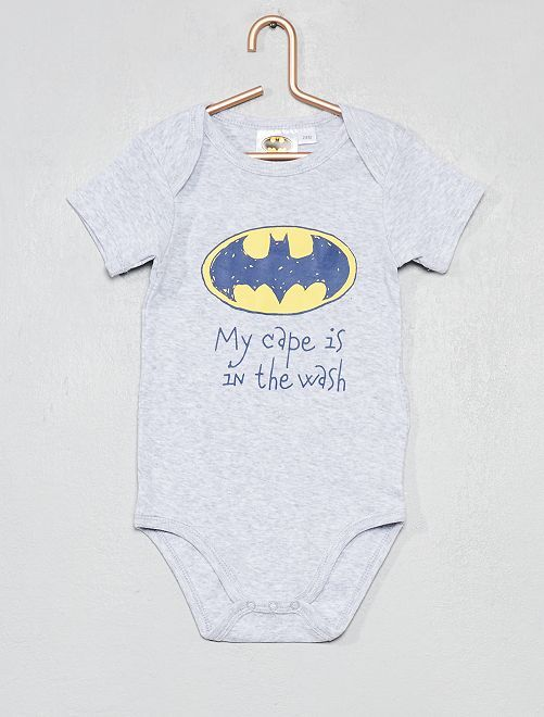 Body pur coton 'Batman'                                         gris