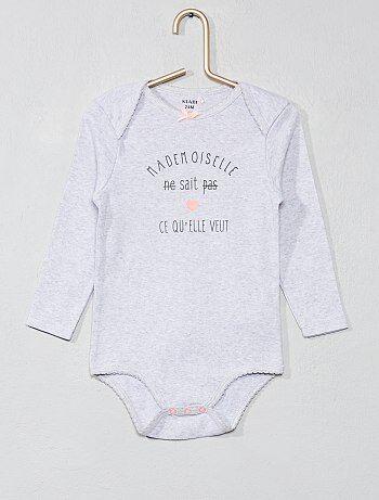 Bodies manches longues bébé - body pas cher Vêtements bébé  601dcf5642e