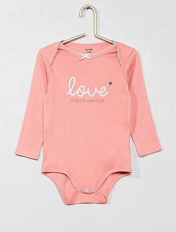 Fille 0-36 mois - Body pur coton imprimé - Kiabi