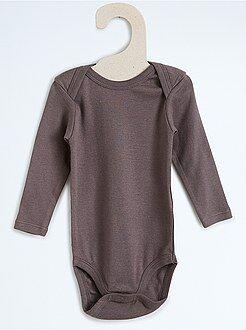 Garçon 0-24 mois Body pur coton manches longues