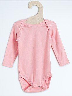 Fille 0-36 mois Body pur coton manches longues