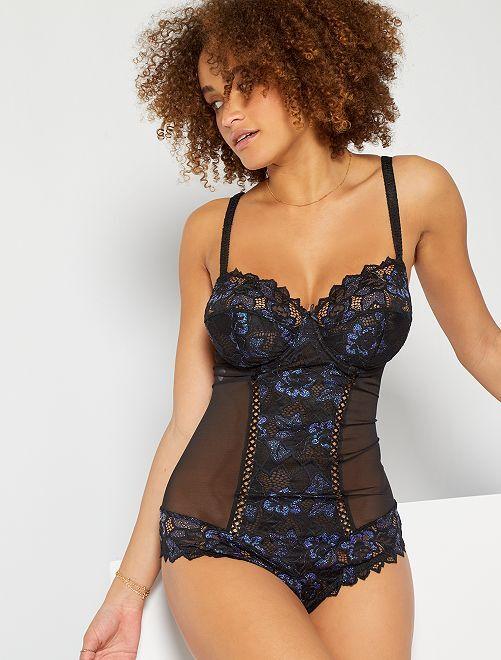 Body 'Sans Complexe'                             noir/bleu