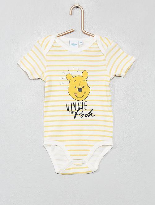 Body 'Winnie l'ourson' de 'Disney'                                         jaune rayé Bébé garçon