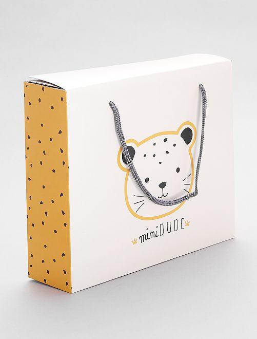 Boîte cadeau en papier recyclé                                         blanc