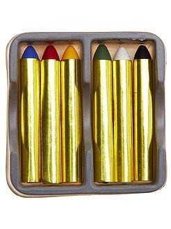 Boite de 6 crayons gras