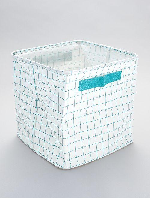 Boîte de rangement imprimé 'carreaux'                             carreaux