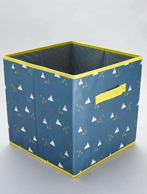 Boîte de rangement imprimé                             gris/jaune