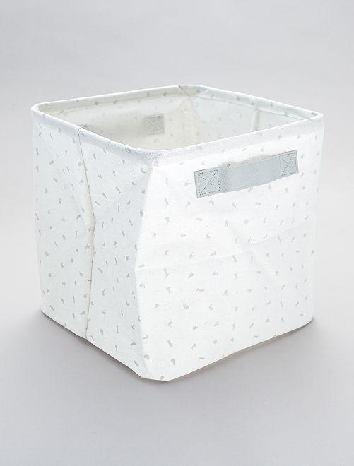 Boîte de rangement imprimé 'lapins'                             blanc