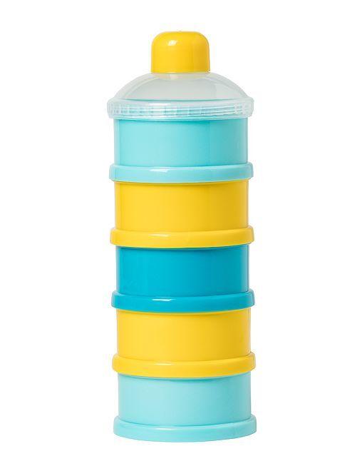 Boites doseuses de lait empilables                             bleu/jaune