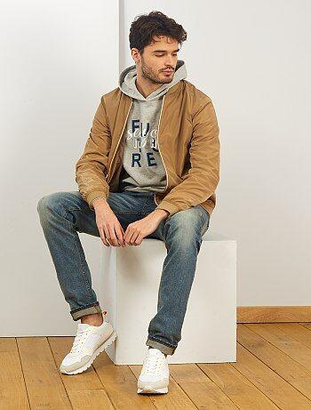 Veste en jean Homme de plus d'1m90 | Kiabi