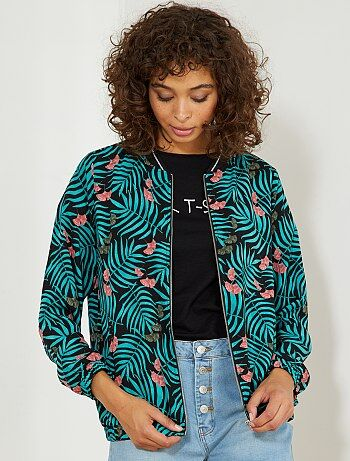Bomber léger imprimé floral all-over - Kiabi