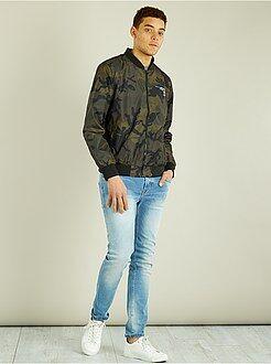 Manteau, veste - Bomber léger zippé imprimé camouflage - Kiabi